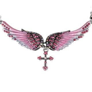 Náhrdelník Angel Cross-Ružová