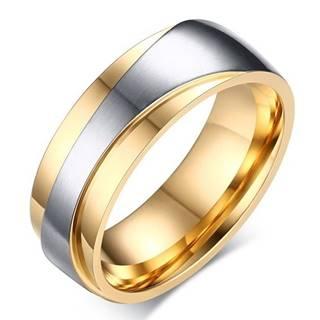 Pánsky Prsteň Promise-Zlatá/Str./57mm