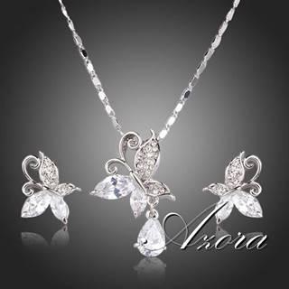 Set AZORA Crystal Butterfly - Kryštálová