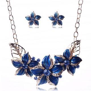 Set šperkov Varnish Flower - Modrá