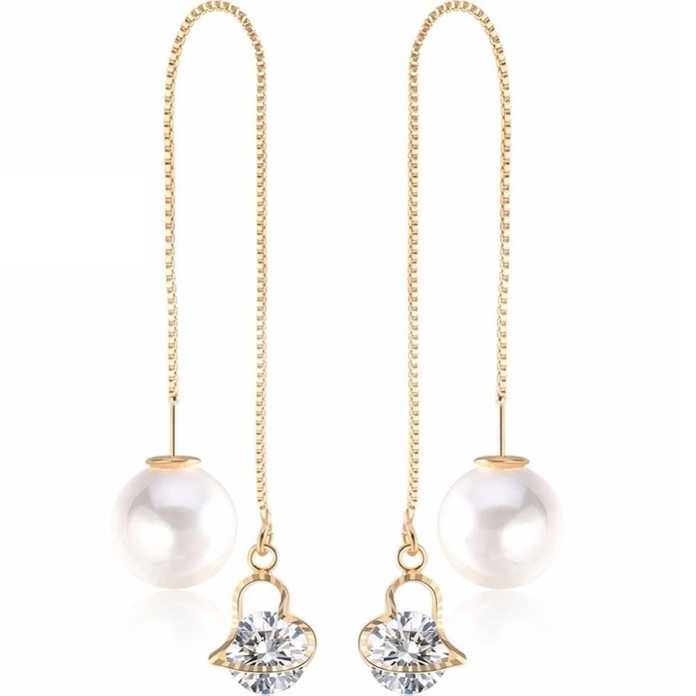 Izmael Náušnice Cute Pearl-Zlatá/Typ1
