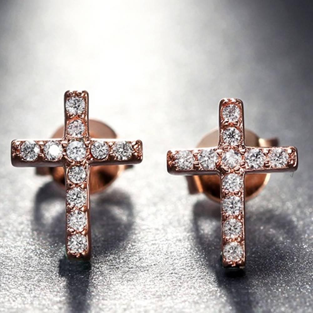 Izmael Náušnice Cross-Zlatá