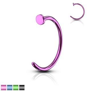 Piercing farebná podkova - anodizovaný titán, lesklý povrch, 1 mm - Dĺžka piercingu: 10 mm, Farba piercing: Čierna
