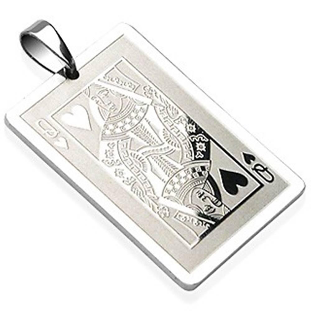 Šperky eshop Oceľový prívesok žolíková karta