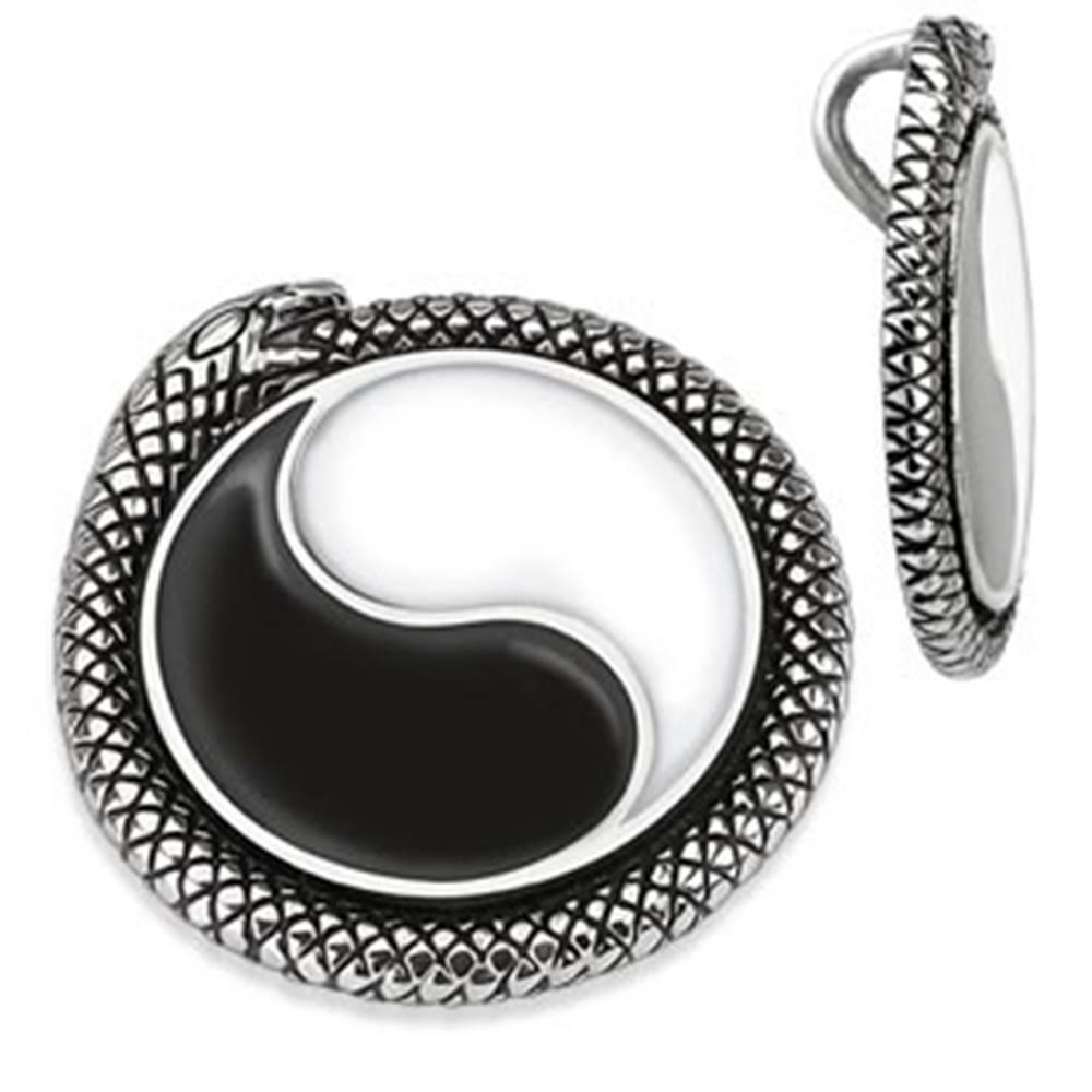 Šperky eshop Prívesok Jin-Jang lemovaný hadom