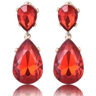 Náušnice Lux Crystal-Červená